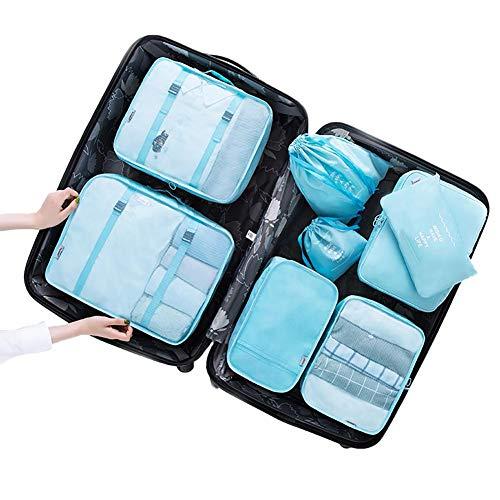 Demarkt Juego de bolsas de viaje en maletín, bolsa de lavandería, bolsa para zapatos y cosméticos