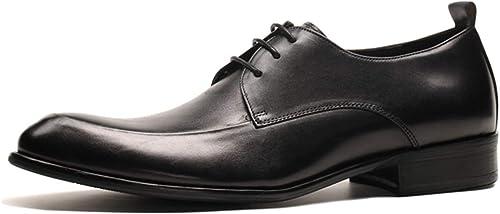 zapatos de Cuero para Hombre con Cordones Derby Trabajo Inteligente Punta Estrecha Fiesta de Baile Formal Oficina zapatos de Vestir Vintage Regalo