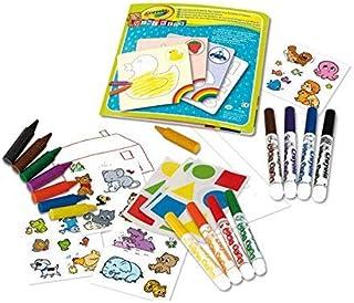 Crayola - Mon premier coffret de coloriage et de gommettes - Loisir créatif - Mini Kids - à partir de 1 ans - Jeu de dessi...