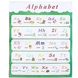 STOBOK Englisch Alphabet Diagramm Buchstabe ABC Poster Pädagogische Vorschule Poster für Kinderzimmer Schule Kindergarten Klassenzimmer Dekoration 30X40cm