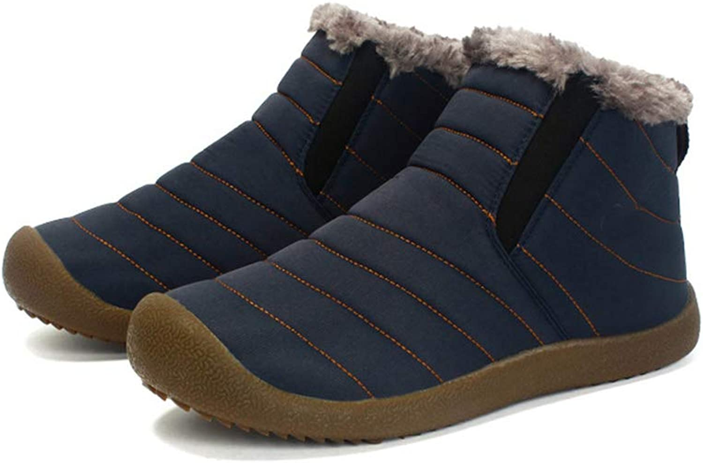 Endand Women Ankle Boots Winter Plush Fur Keep Warm shoes Women Flat Boots shoes for Women