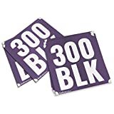 300 AAC Blackout (300 BLK) Stencils for Guns, Magazines and Accessories - 5 Pack