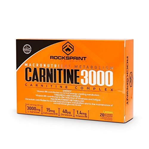 CARNITINE 3000 READY TO DRINK 20 x 15 ml - Carnitina naturale - Bruciatore liquido - Integratore sportivo