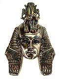 Veronese - Máscara tutanchamun de 29 cm, decoración de pared de Egipto farao, figura de bronce