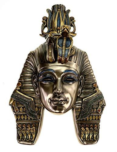 Veronese Maske Tutanchamun 29 cm Wanddekoration Ägypten Pharao Figur bronziert