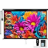 100' Motorized Projector Screen - Indoor and Outdoor Movies Screen 100 inch Electric 4:3 Projector Screen W/Remote Control