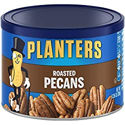 PLANTERS Roasted Pecans, 7.25 oz. Resealable Canister | Salted Pecans | Snacks for Adults | Kids Sna
