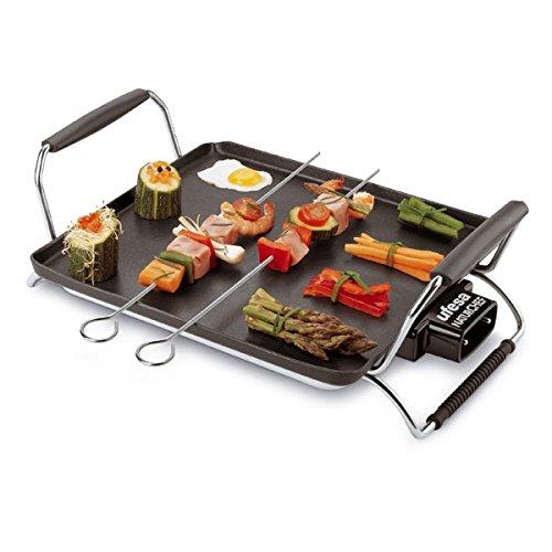 Ufesa GR7445 Natur Chef, Negro, 230 MB/s, 50 Hz, 2770 g, 800 x 1200 x 1845 mm, Aluminio - Parrilla