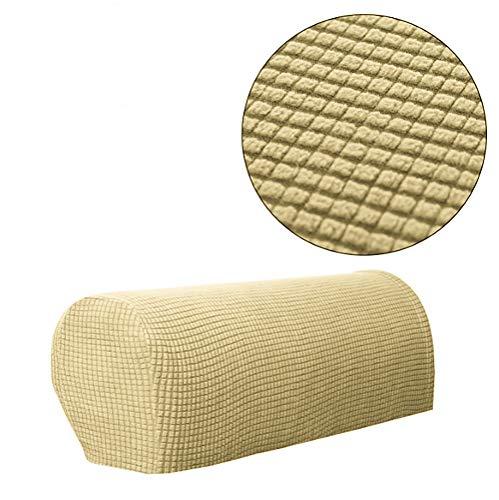 Jacalee Spandex - Juego de 2 Fundas para reposabrazos Antideslizantes para sofá o sillón reclinable