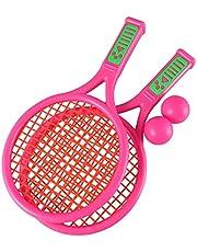 LIOOBO 1 par Raquetas de Tenis para Niños Juguete de Raquetas de Badminton (Rosa)