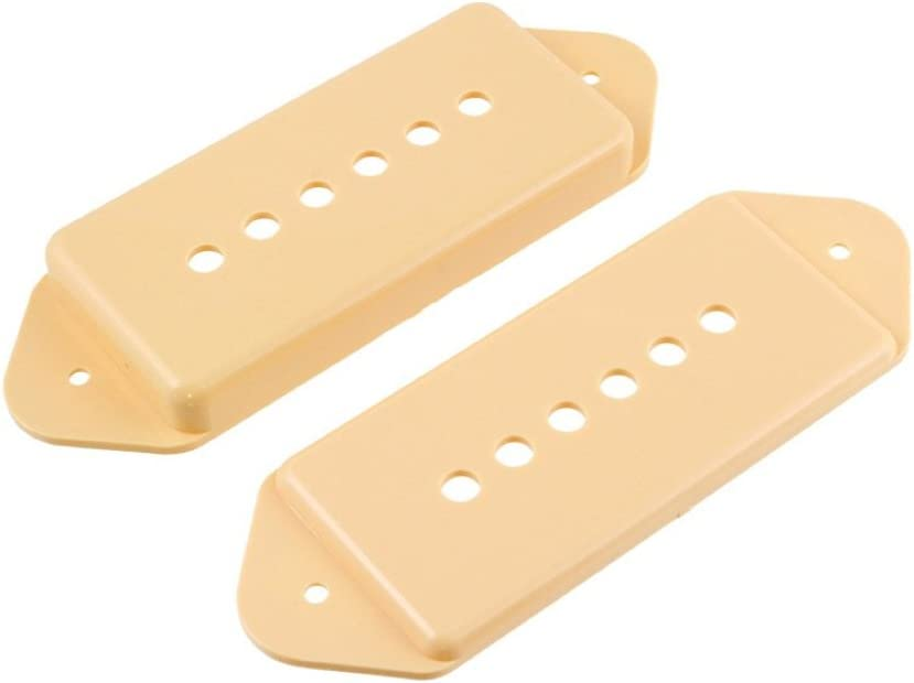 2 Cheap SALE Start Pickup Covers Popularity for P-90 Cream Plastic Ears w