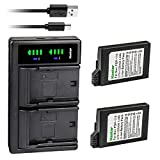 Kastar 2-Pack PSP 110 Battery and LTD2 USB Charger Replacement for Sony PSP-Lite, PSP-Silm, PSP2000 PSP2001 PSP2002 PSP2003 PSP2004 PSP2005 PSP2006 PSP2007 PSP2008 PSP2009 PSP2010 PSP3000 Playstation