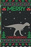 Ugly Carnotaurus Christmas Composition Notebook: Carnotaurus Lover Xmas Lighting Ugly Style Christmas Pajama Journals - Christmas Decoration Journal Notebook For Men, Women, Girls, Kids