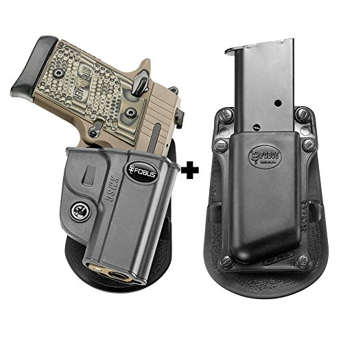 Fobus KMSG Paddle Concealed Carry Black Holster Kimber Micro 9mm & .380cal+ 3901-45 Single Mag Pouch