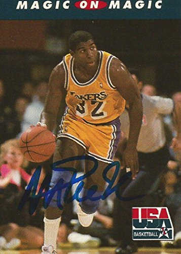 Save %32 Now! 1992 Skybox USA LA Lakers Magic Johnson #104 Signed Auto Card IN PERSON PROOF - Basket...