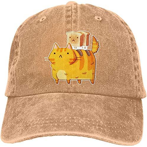 Sombrero de béisbol para adulto con diseño de gato tostador