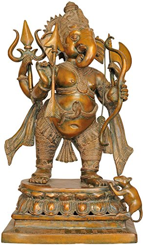 Exotic India The Invincible Yuddha-Ganapati, Chola, Taille : 10 x 17,5 x 28.5