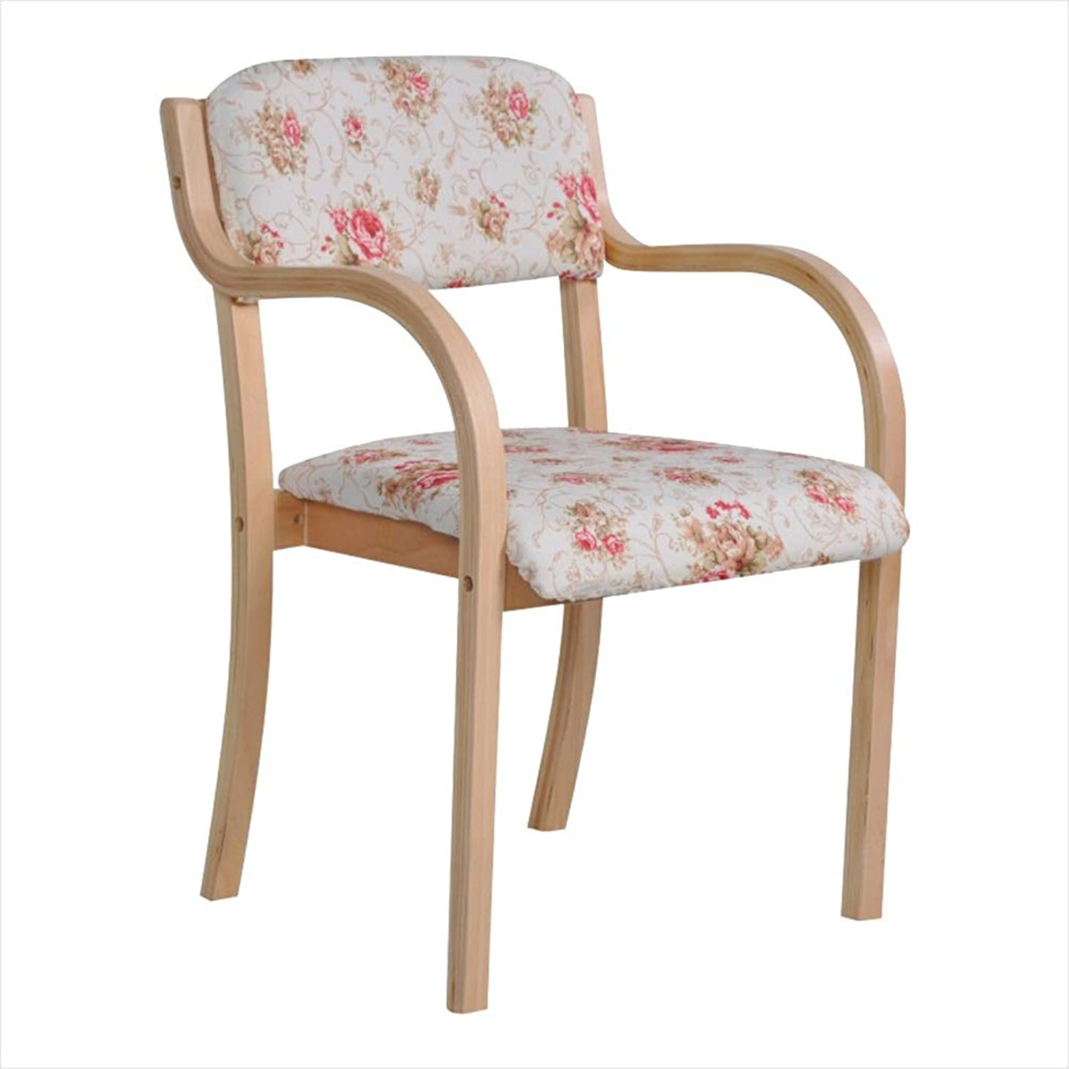 Dining Chairs Dining Table Chair Kitchen Chairs-Solid Wood Chair Dining Chair Leisure Chair Study Chair Home Chair Modern Simplicity with Armrests Washable Cotton and Linen HENGXIAO (color    2)
