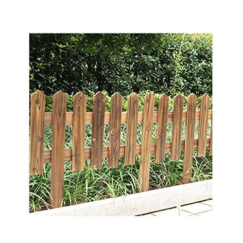 GEMIAO Jardín Vallas De Madera, Carbonización A Alta Temperatura Valla De Madera, Madera Maciza Borde del Panel por Cama De Flores, Patio Interior, Balcón (Color : Brown, Size : 60x35x20cm)