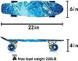 Zoom IMG-1 newdora 22 skateboard cruiser completo