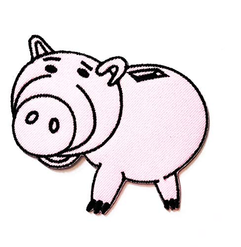 Affordable Nipitshop Patches Cute Pretty Pig Stand Farm Animal Cartoon Kids Patch Embroidered Iron O...
