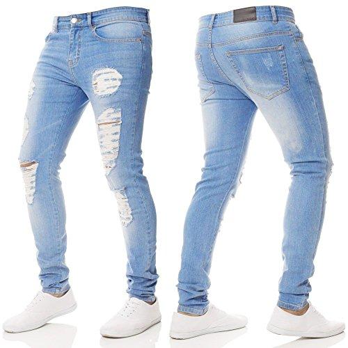 FIRS 2021 Nouveau Jeans pour Hommes Printemps et été Nouveaux Jeans élastiques Slim-fit Tendance personnalité Confortables décontractée Jeans décontractés