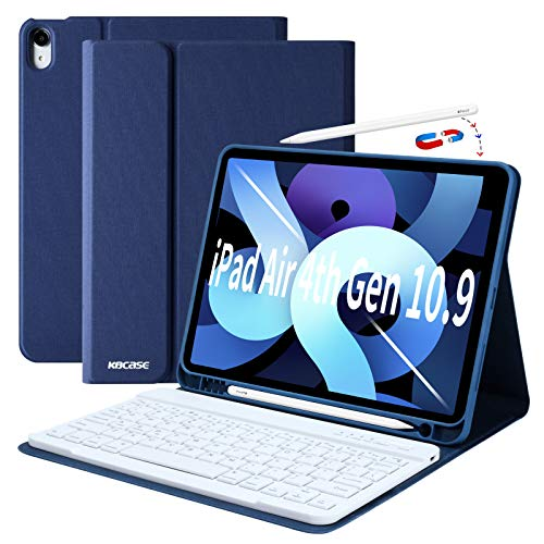 New iPad Air 4th Generation 10.9 Keyboard Case 2020, iPad Air 10.9 Case with Magnetic Detachable Keyboard for New iPad Air 4th Gen(Dark Blue)