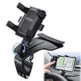 Car Phone Holder Mount, Mindsky Phone Car Holder with Upgrade 1200° Rotation, Dashboard Adjustable Spring Clip Cell Phone Holder,Spida Mount, for iPhone12 11 pro/11 pro max, Galaxy, Moto and More