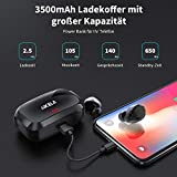 AIKELA Wireless Headphones Bluetooth 5.0 TWS Headphones Wireless Earphones Earbuds Noise Cancelling 140 Hours Playtime with Mic LED Display IPX7 Waterproof for iPhone Android iOS (black2)