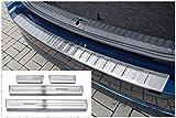 tuning-art L410-XF516-1 Protección Parachoques y de umbral para Skoda Octavia 4 Combi, Color:Plata