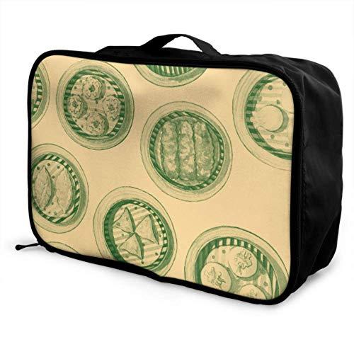 Custom Folding Luggage Bag Lightweight Creative Kitchenware Home Food Steamer Best Travel Duffel Bag Foldable Portable Storage Luggage Bag With Trolley Sleeve