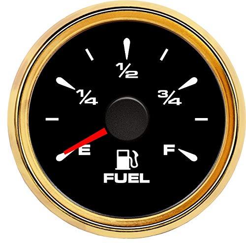 LPLHJD 52mm Auto-Motorrad-Kraftstoffanzeiger 0-190ohm 240-33ohm Kraftstoff Pegelmesser 9-32V Marine Fuel Gauges (Color : Schwarz, Size : Kostenlos)