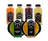 DRINK6 - Plan Detox para 5 Días, 20 Zumos y 10 Cremas, Kit de Productos 100% Naturales para Eliminar Toxinas, Programa Sustitutivo para Limpiar Impurezas Sin Esfuerzo