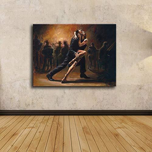 Leinwand Bild,Männliche Und Weibliche Tango Tanzen, Poster Und Drucke Modulare Wand Bild, Home Decor Einfache Kunst Wandbilder Bild Foto Ausdrucken Wand Für Wohnzimmer, Schlafzimmer, Hotel, Speises