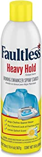 FAULTLESS Heavy Lemon Spray Starch 20 oz Cans (Pack of 3)