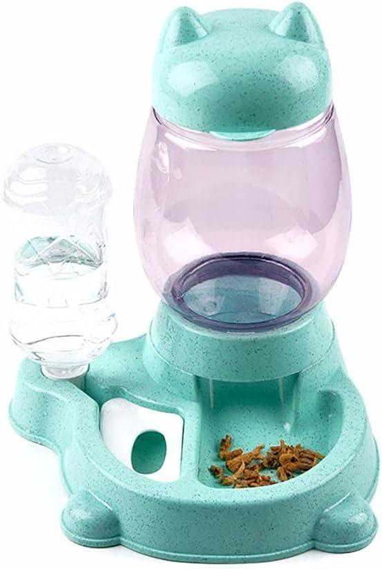 LAMCE Alimentador automático para Mascotas, alimentación y Agua para Gatos, vajilla de Gran Capacidad para un Perro, máquina de Agua Potable no húmeda Hu
