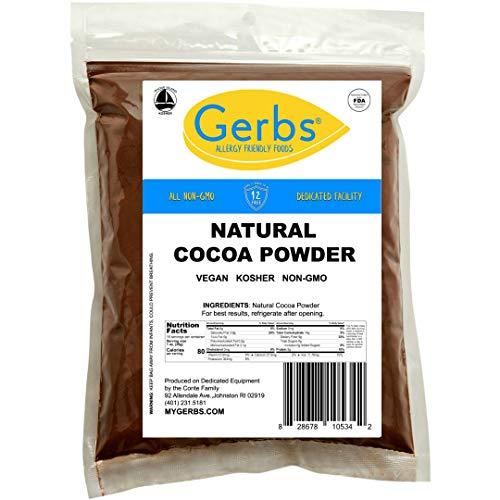GERBS Natural Cocoa Powder, 16 ounce Bag, Top 14 Food Allergen Free, Fair Trade, Non GMO, Vegan
