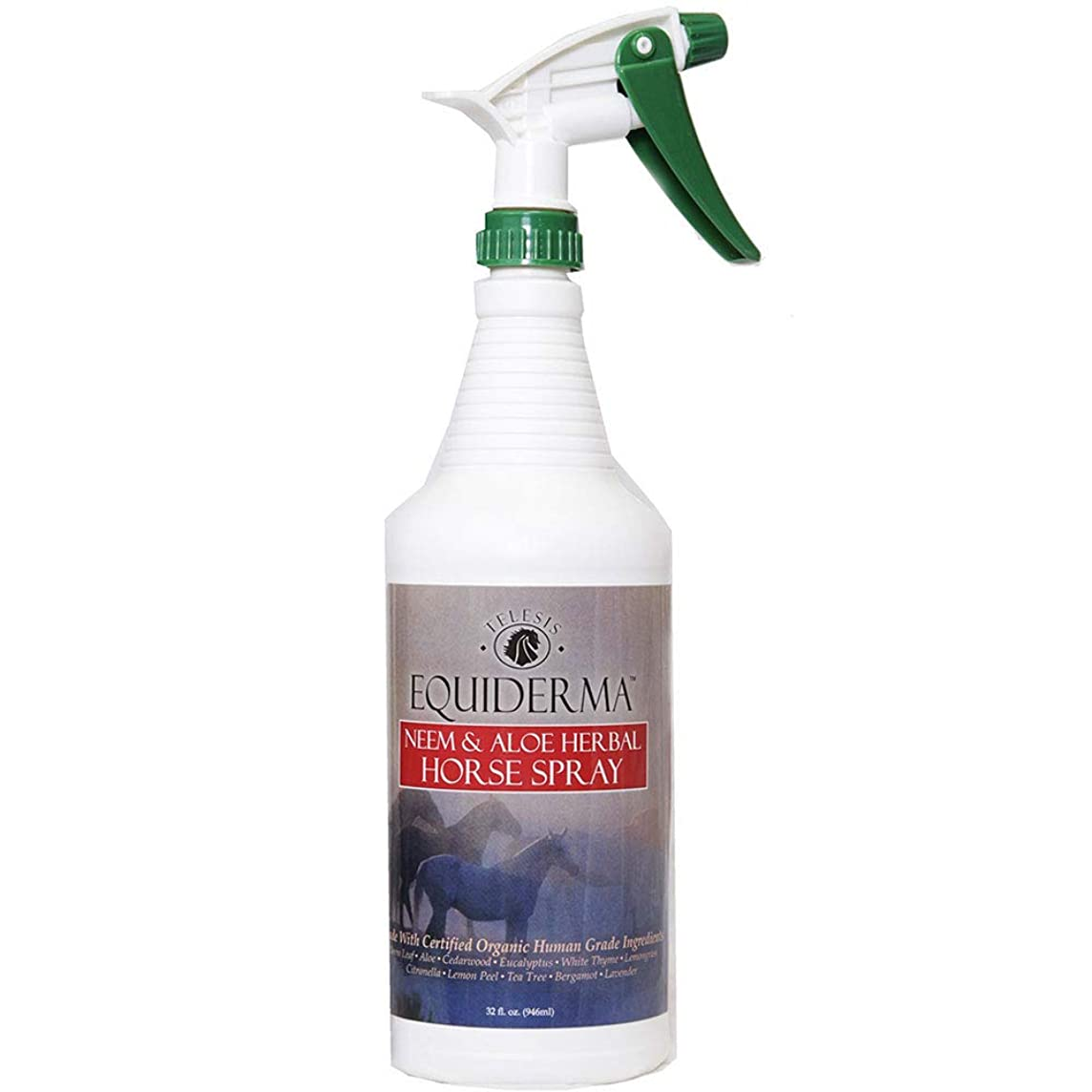 Equiderma Neem and Aloe Horse Spray, 32 Ounces Per Bottle