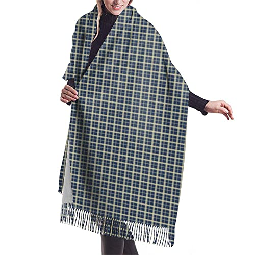 Bufanda de chal para mujer Hh Little Plaid Bue Chal Bufanda Capa Grande Suave y acogedor Bufanda de cachemira Abrigo Chal cálido para mujer
