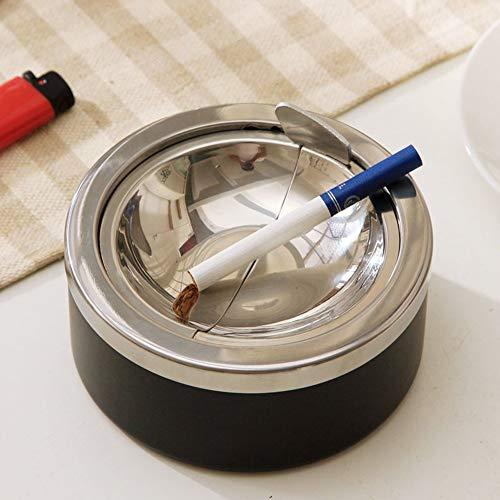 WLP-WF Porta Cigarrillos Cenicero Prensa a Prueba de Viento, Cenicero de Moda de Acero Inoxidable para Hombre 's Gift-A,a