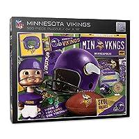 YouTheFan NFL Minnesota Vikings Retro Series Puzzle - 500 Pieces