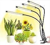 MATEHOM Lampe de Plante, Spectre Complet Lampe à LED pour Plantes, pour Les Plantes Horticole Légumes Floraison en Intérieur avec 3 minuteries, Meilleur pour Plantes Intérieures