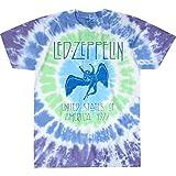 Liquid Blue unisex adult Led Zeppelin Ramble on Swan Song Tee T Shirt, Tie Dye, Large US