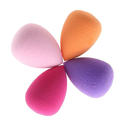 Demarkt 4 pièces Éponges de maquillage Éponge à Fond de Teint Éponge pour maquillage Éponge de mélange de fond de teint sans faille pour crème et poudre liquides,Différentes formes multicolores