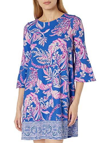Lilly Pulitzer Damen Ophelia Dress Freizeitkleidung, Iris Blue Wild Within Engineered Kleid, XX-Small