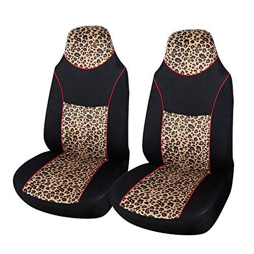 ZKORN 2 STÜCKE Mode Autositzbezug Integrierte High Back Eimer Saugfähigen Rutschfesten Waschbar Für Autos SUVS und Lkws