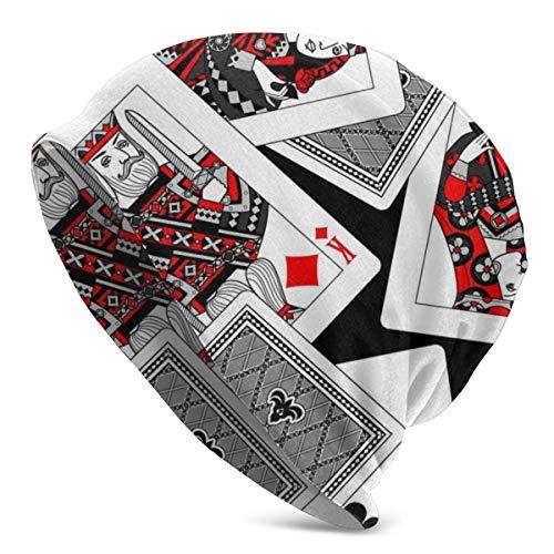 XCNGG Gambling Poker Naipes Gorros de Punto para Hombres Mujeres Sombrero de Invierno Gorros de Cobertura