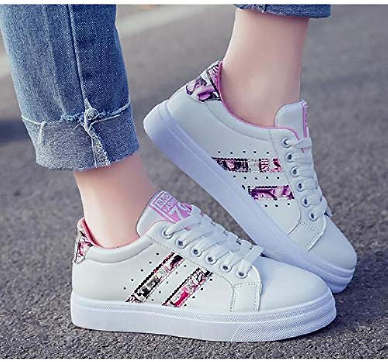 Women's shoes PU(Polyurethane) Fall Comfort Sneakers Flat Heel Black bluee   Pink