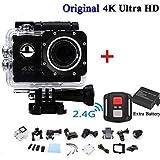 DF-FR DF-FR Caméra vidéo 4k caméscope WiFi Ultra HD 16mp DVR Sports Caméra caméscope plongée en Plein air (Couleur: Noir)