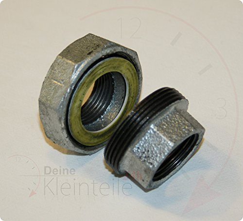 De acero galvanizado racor de hierro a través de